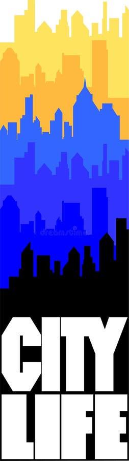 Download City life stock vector. Image of monotone, artistic, architecture - 13785276