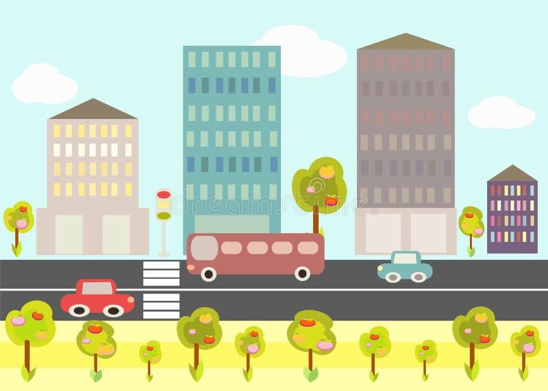 City life. vector illustration