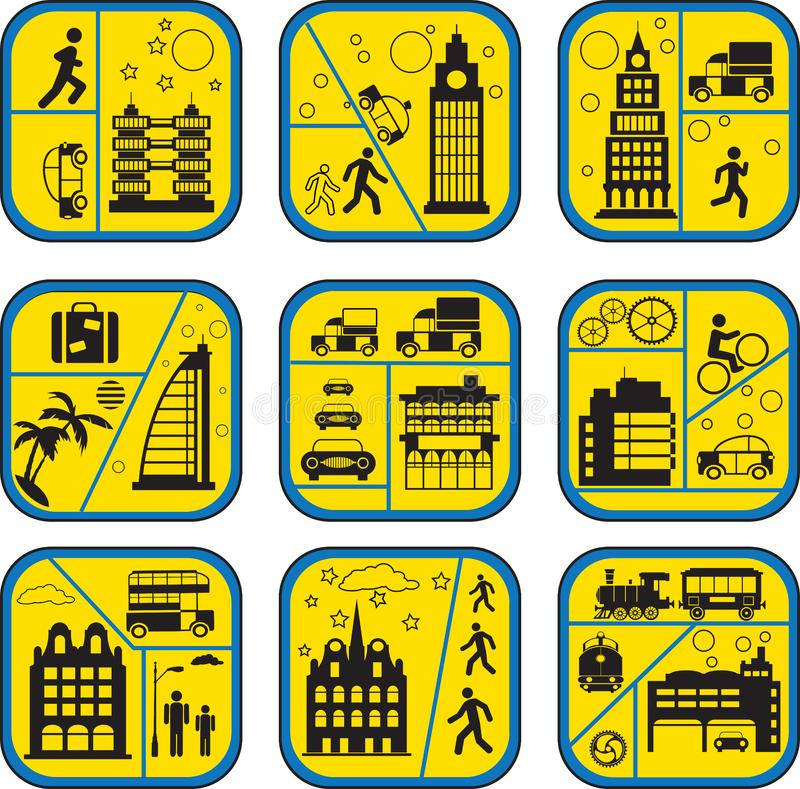 Download City life stock vector. Illustration of life, object, house - 8346858