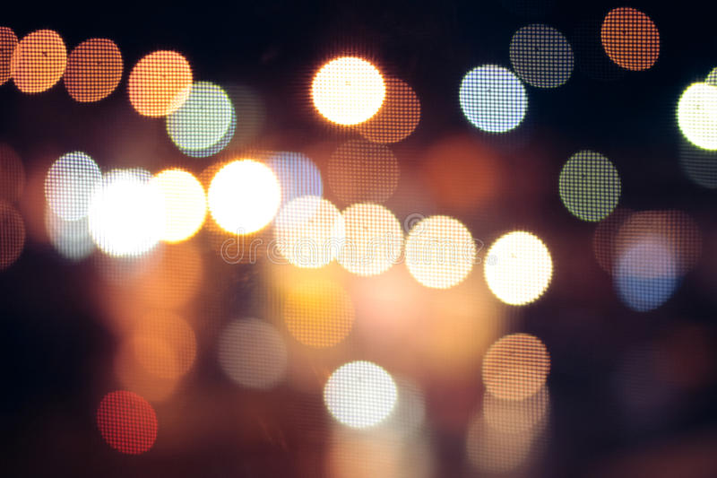 City life in night in abstract background. Road light bokeh. Night car driving concept stock photography