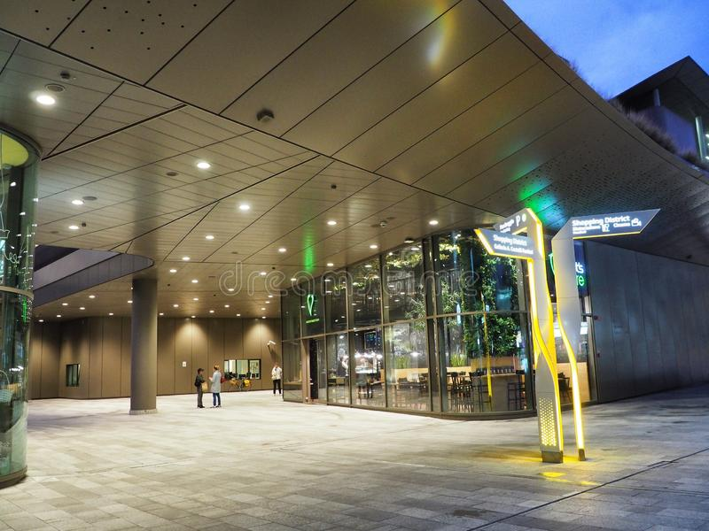 CIty Life Shopping District mall neue iconic moderne Architektur stockfotos