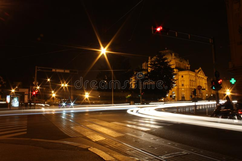 City lights royalty free stock photo