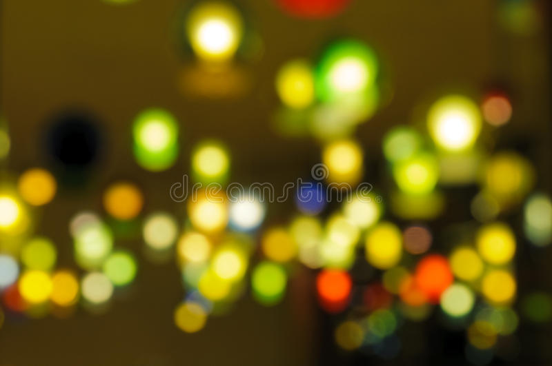 City lights. Coloured blurred city lights at night royalty free stock image