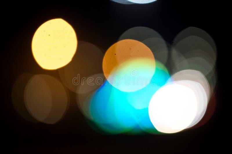 City lights against a dark stock photo
