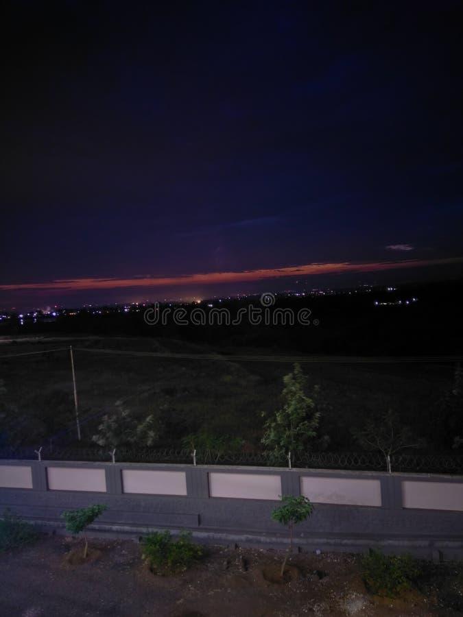 City lights. Photography kolhapur nighttime stock photography