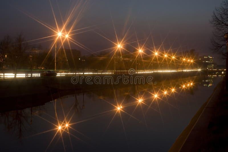 city lights like stars στοκ φωτογραφίες