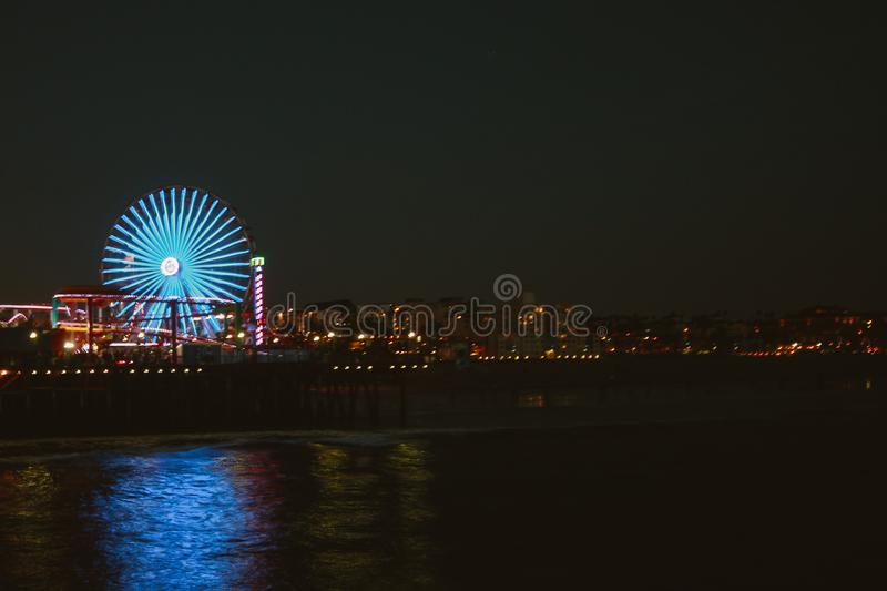 City Lights at Night royalty free stock photography