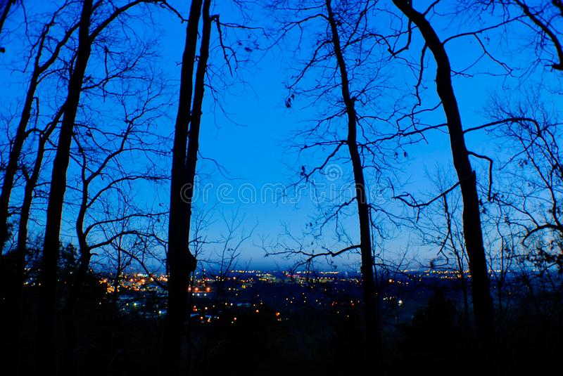City Lights From Trail stock photo