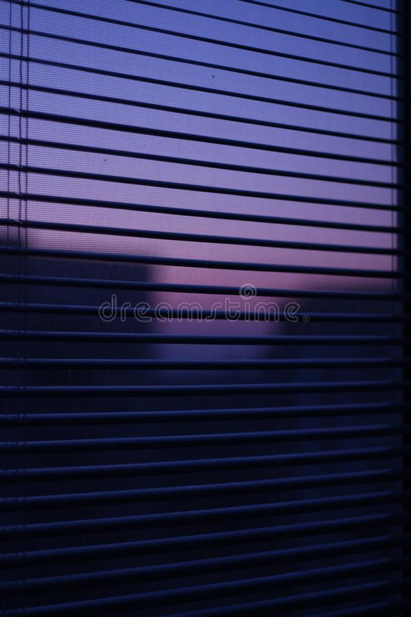 City lights in window. stock photo