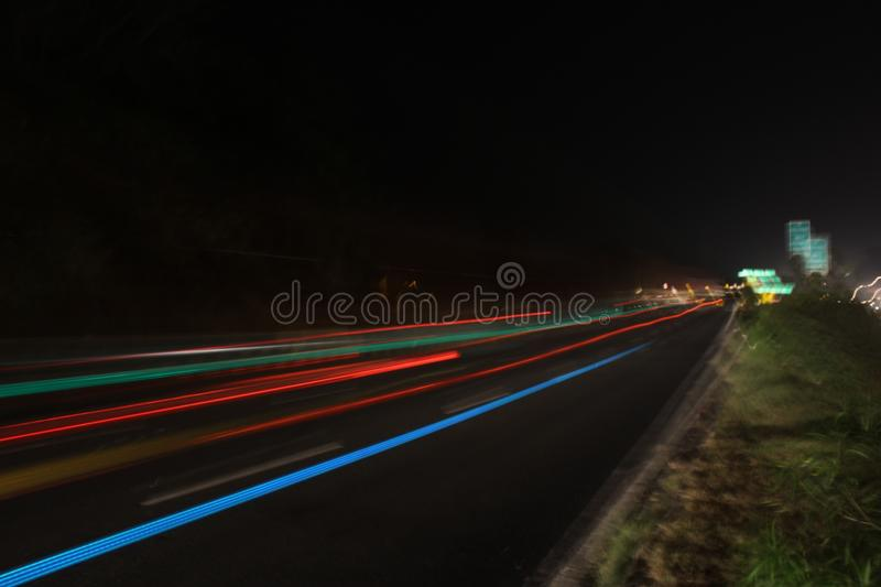 City ligts in stock image