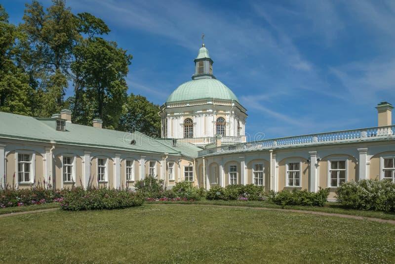 The city of Lomonosov Menshikov Palace stock photos