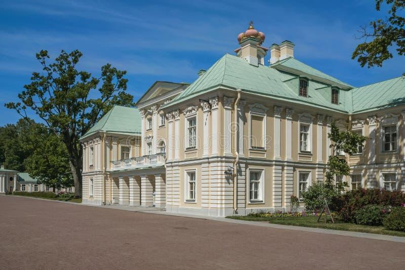 The city of Lomonosov Menshikov Palace stock image