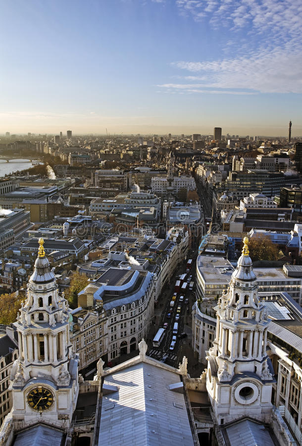 City of London. View from St. Paul's Cathedral stock photo