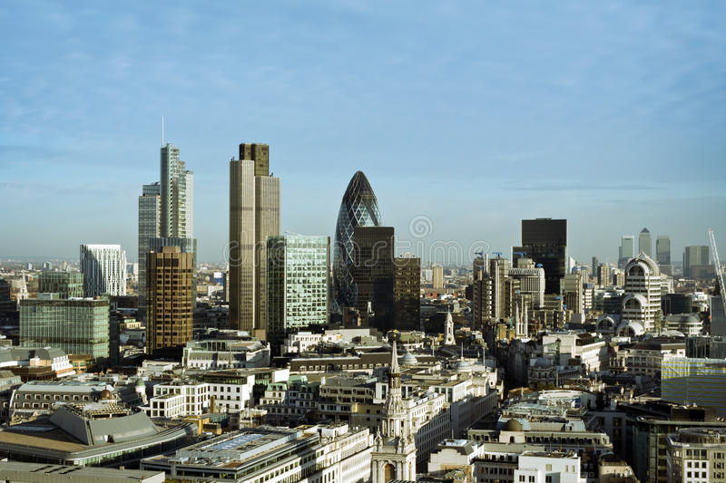City of London. One of the leading centres of global finance.this view includes :Tower 42 Gherkin,Willis Building, Stock Exchange Tower and Lloyd`s of London stock images