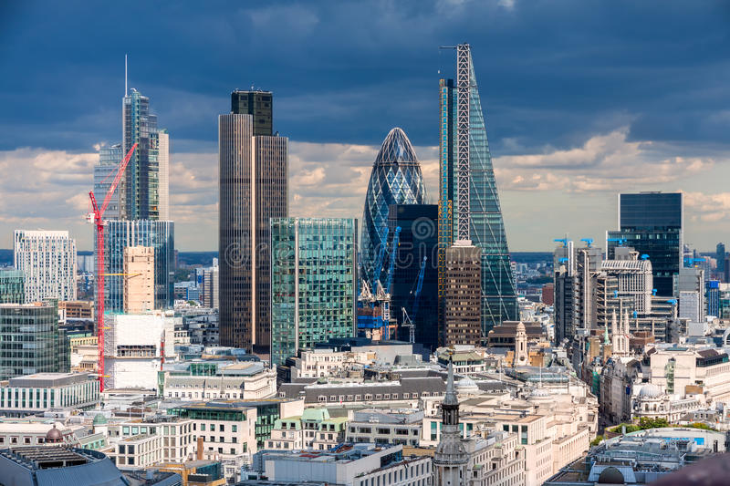 The City of London. In the afternoon royalty free stock images