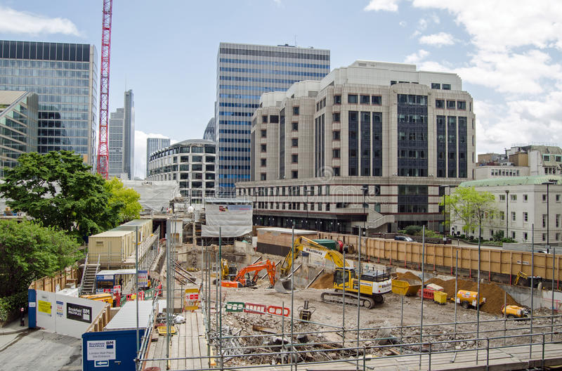 Download City Of London Building Site Editorial Image - Image of horizontal, rubble: 41903200
