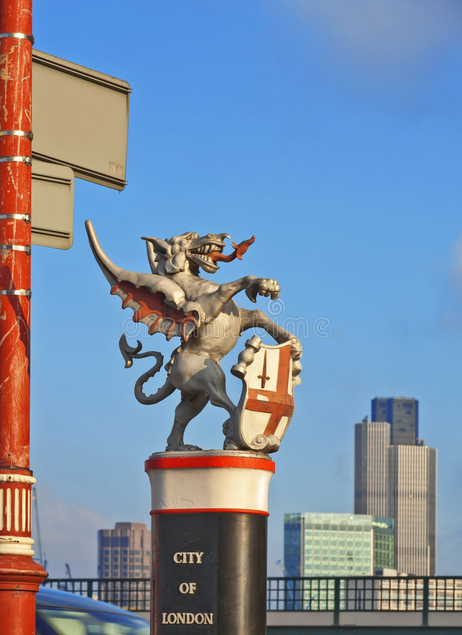 City of london dragon. A photography of the city of london dragon stock image