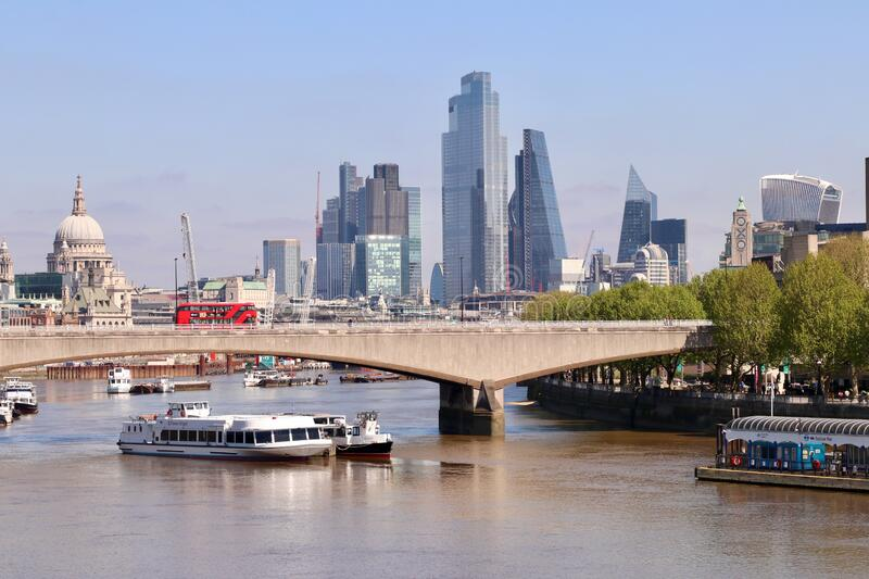 The city of London, England royalty free stock photography