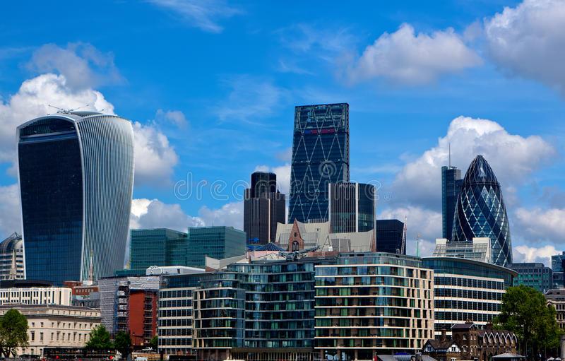 City London. The financial city in London, England, Britain, UK royalty free stock photo