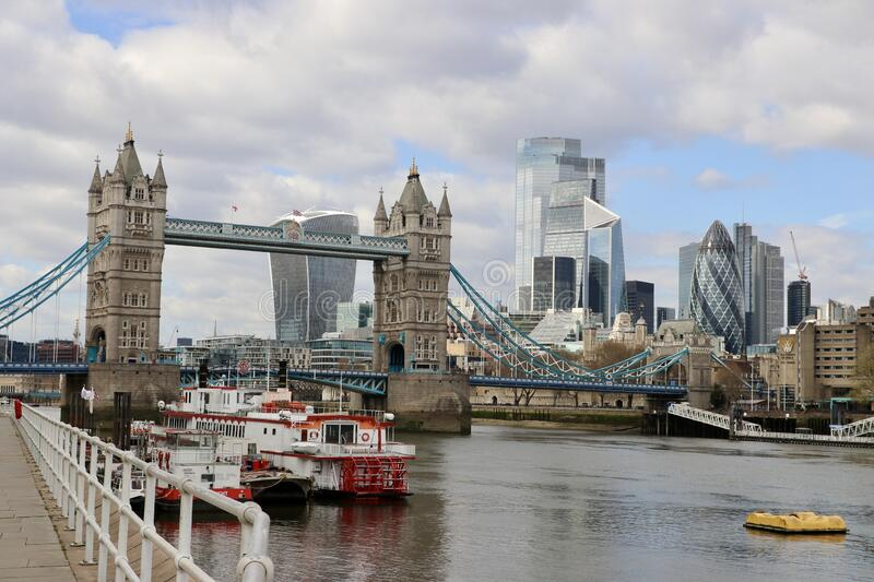 The city of London, Great Britain, river Thames stock photo