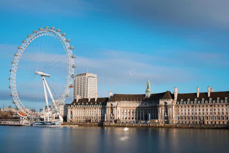 City of London with London Eye stock photos