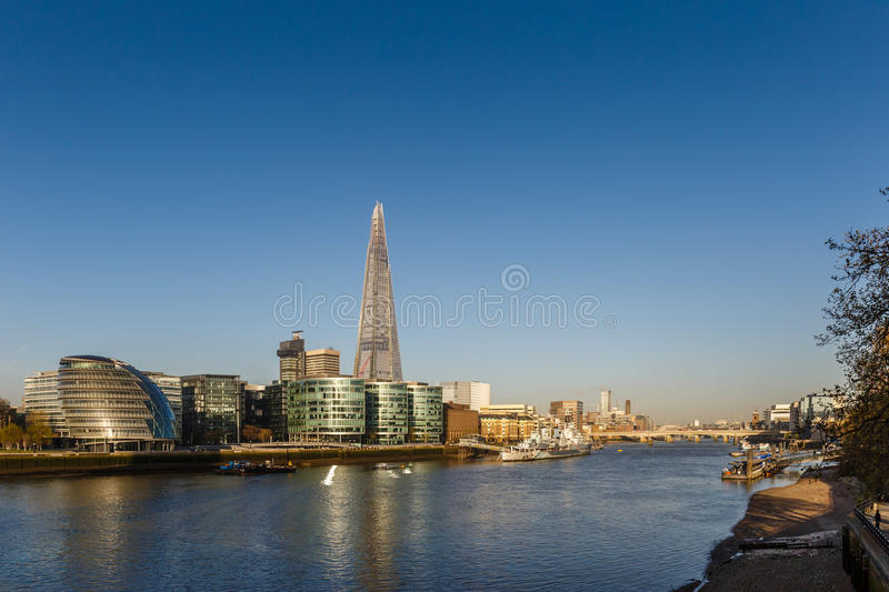 City of London in the morning. Sunset royalty free stock photo