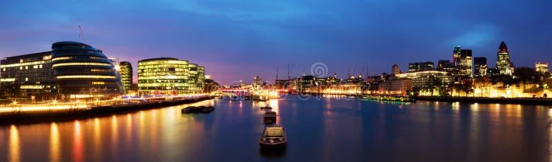 City of London panorama royalty free stock photo