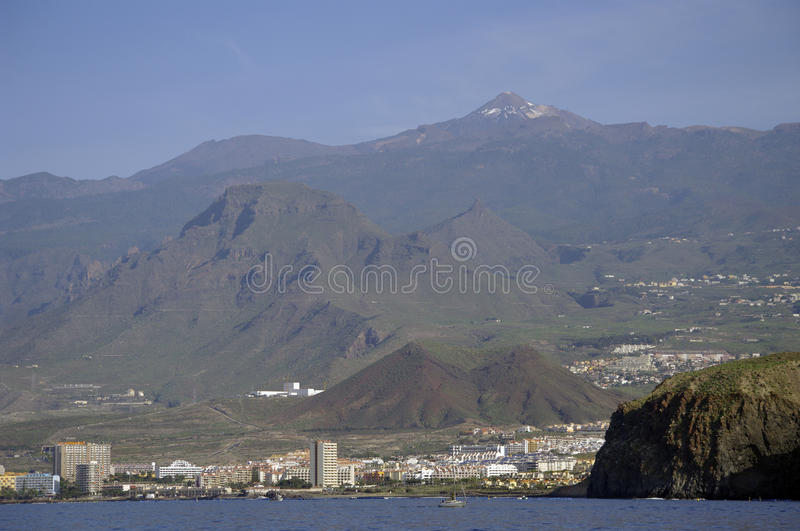 City Los Cristianos in Tenerife island. stock photography