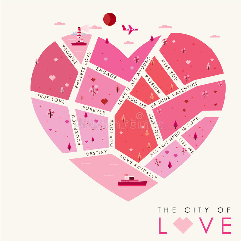 The city of love-01 royalty free illustration