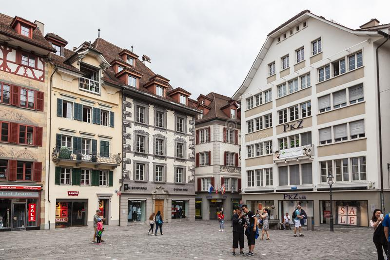 City of Luzern, Switzerland royalty free stock images