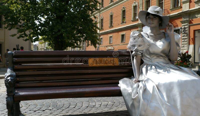 The city Lviv in Ukraine royalty free stock photography