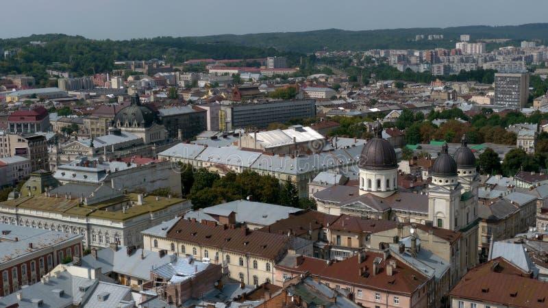 The city Lviv in Ukraine stock photography