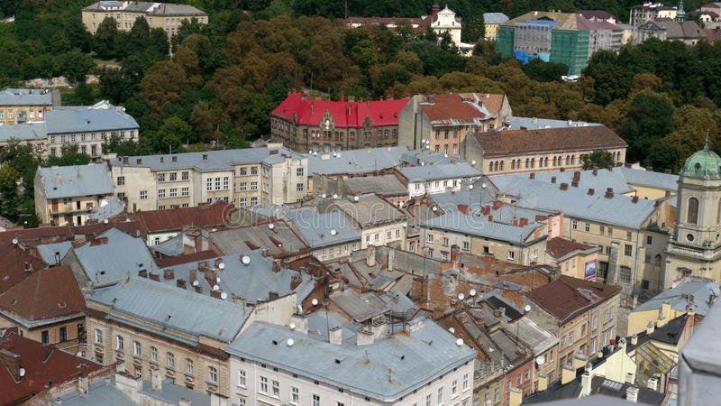 The city Lviv in Ukraine royalty free stock photos