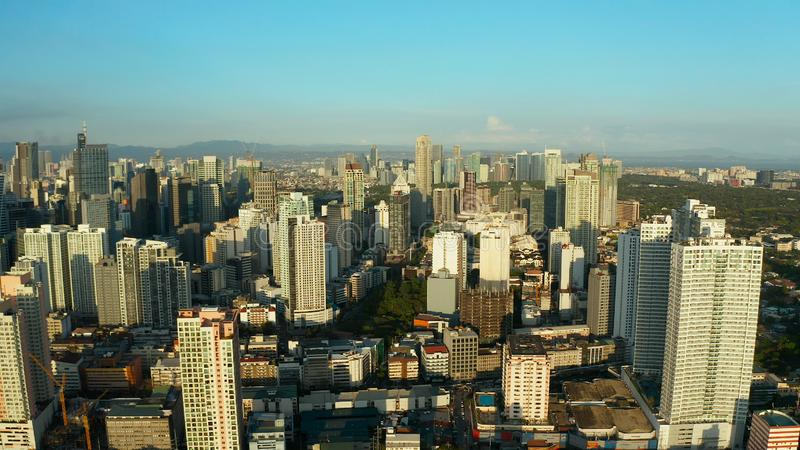The city of Manila, the capital of the Philippines. royalty free stock images