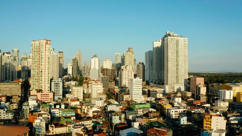 The city of Manila, the capital of the Philippines. stock image