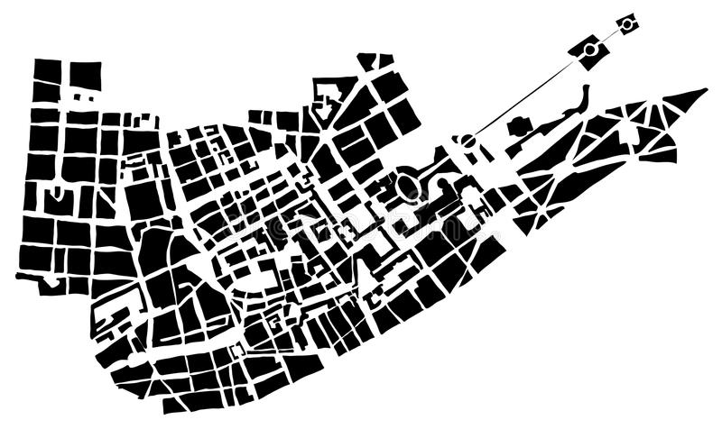 City map. Of the unknown city royalty free illustration