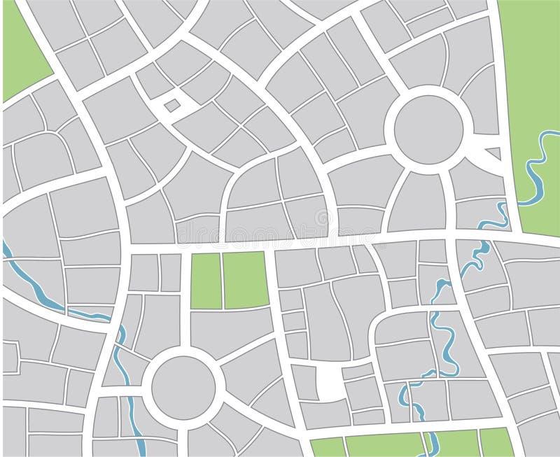 Download City map stock vector. Illustration of lane, river, street - 16227247