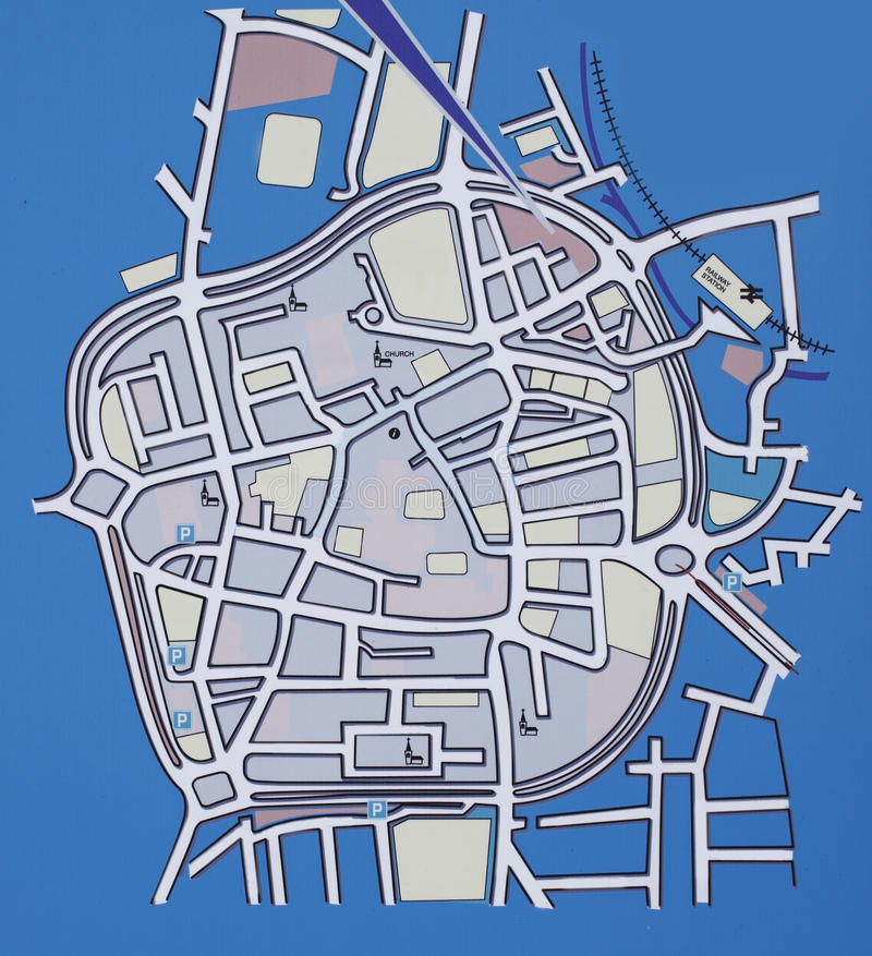 Download City map stock image. Image of blue, city, town, village - 18877225