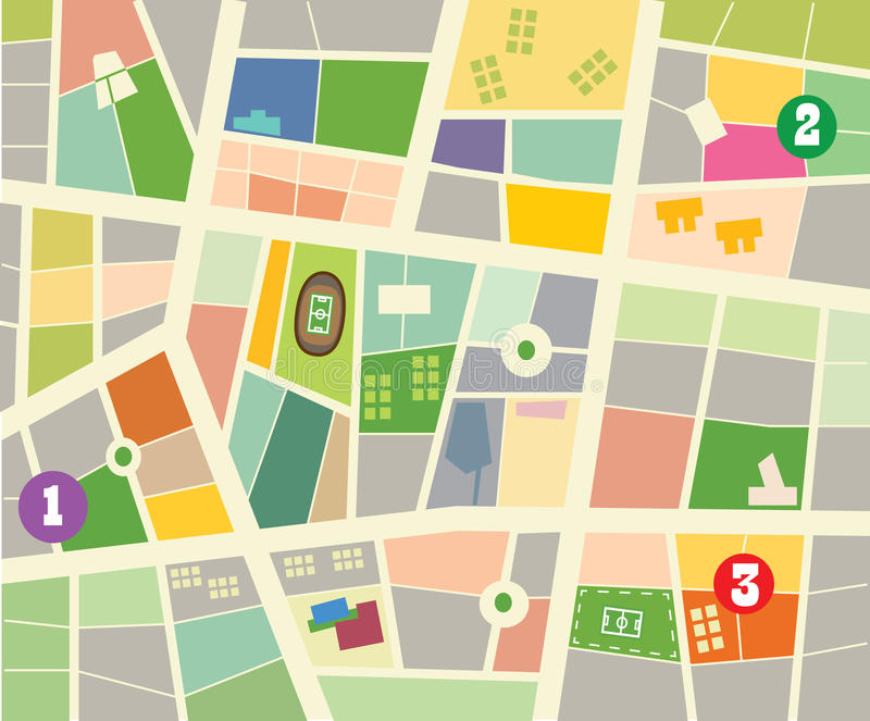 City map. Abstract vector city map design vector illustration