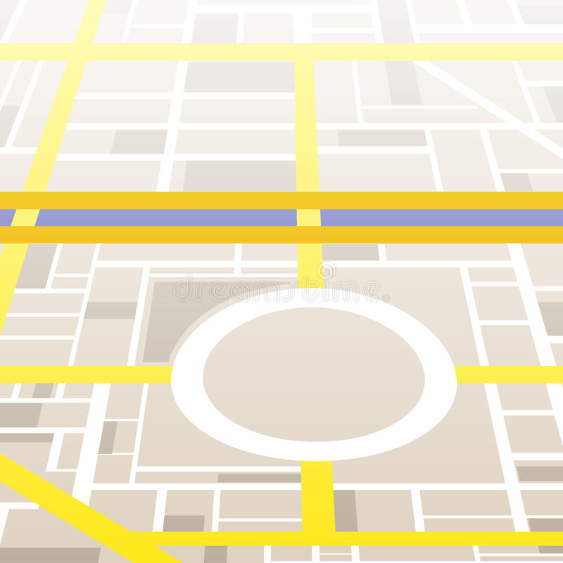 City map. Generic city map without names royalty free illustration