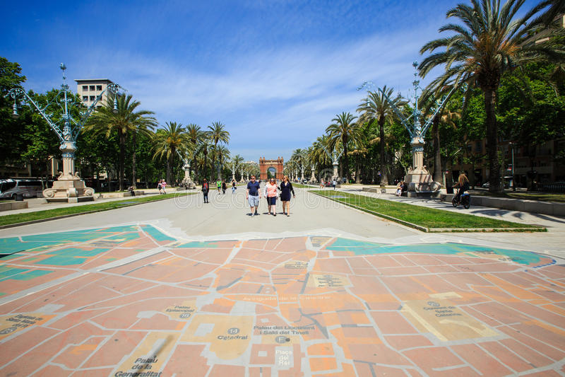 Download City Map On A Ground In The Alley Near Triumphal Arch Editorial Photo - Image: 83715386