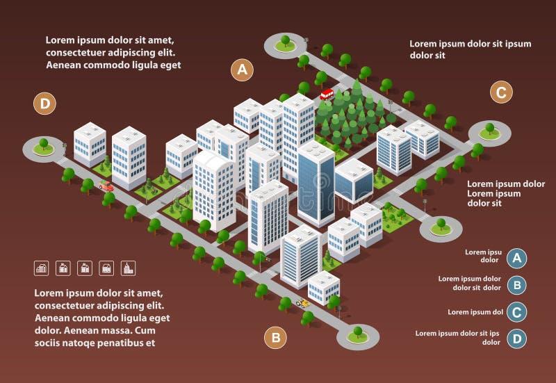City megapolis structure royalty free illustration
