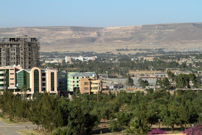 The city of Mekele in Ethiopia. The city skyline of Mekele in Ethiopia royalty free stock photos