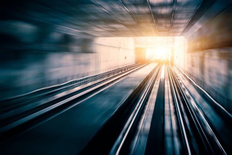 City Metro Rail, motion blur stock image