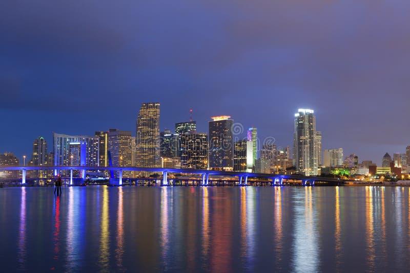 Download City of Miami. stock photo. Image of blue, miami, purple - 28751486