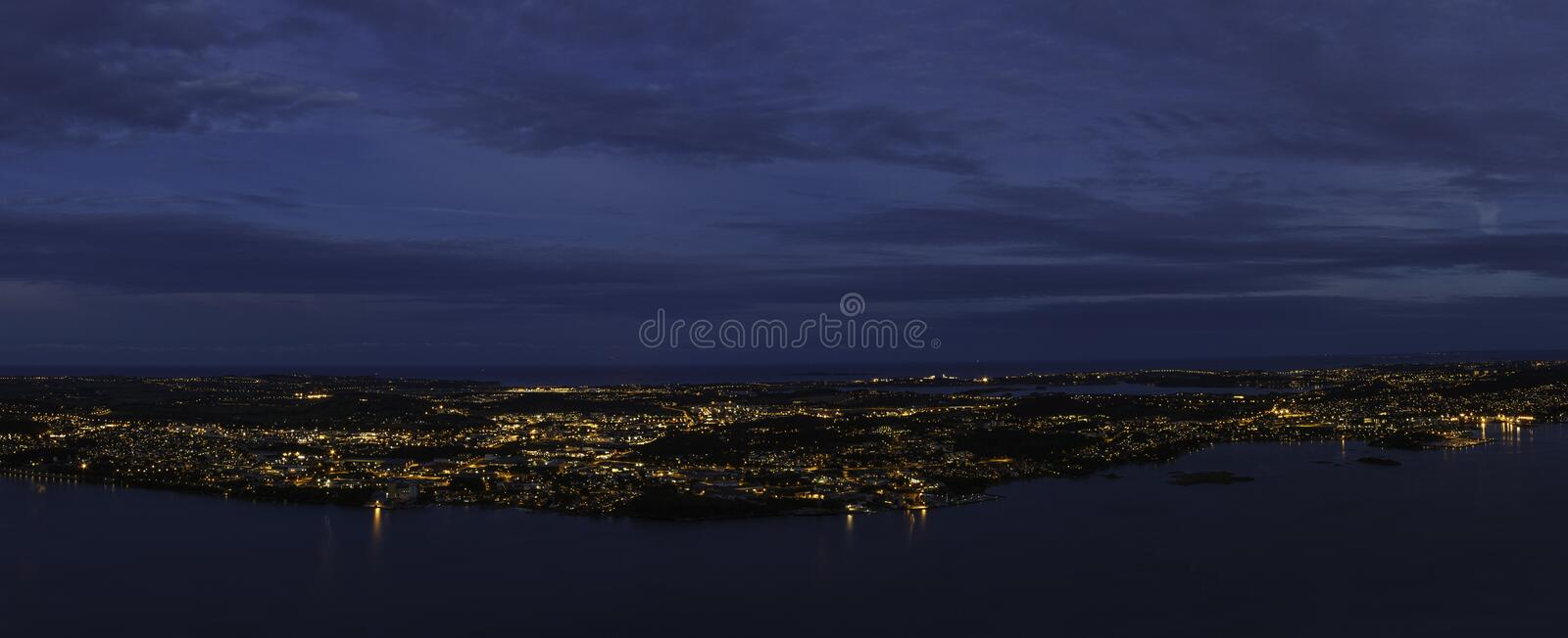 City in middle of the sea royalty free stock photos