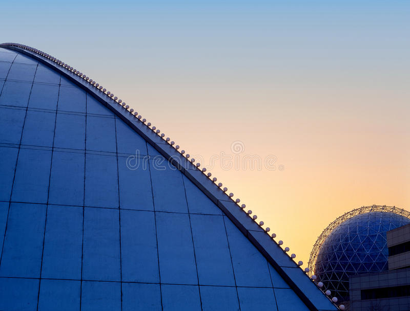 City of modern architecture stock photography