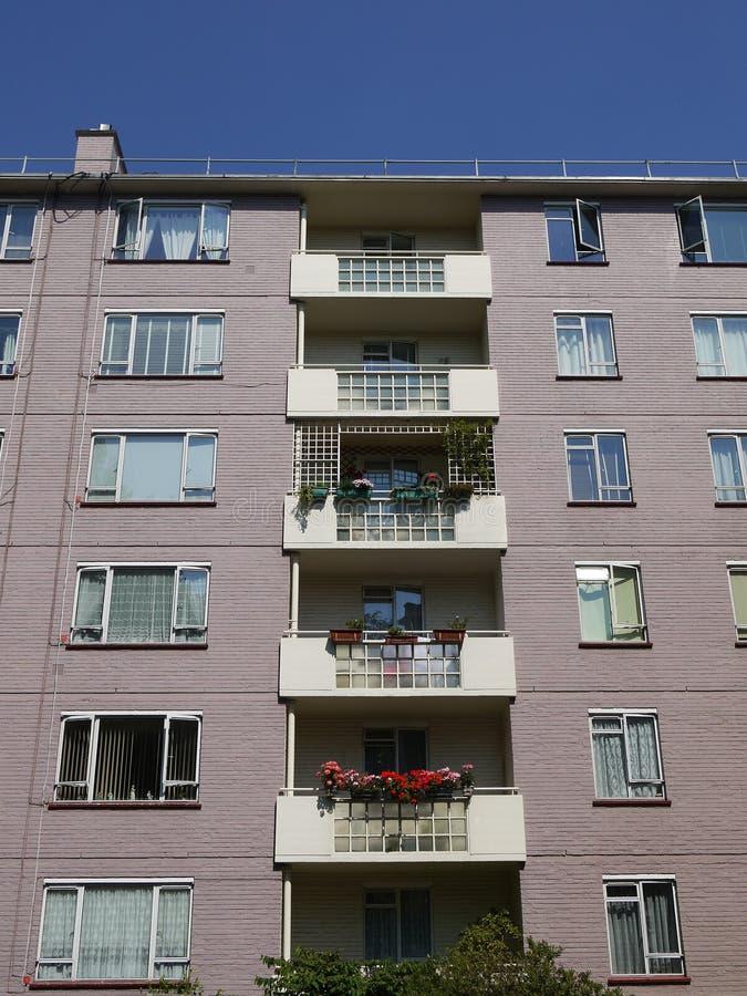 City: modernist apartment block royalty free stock photos