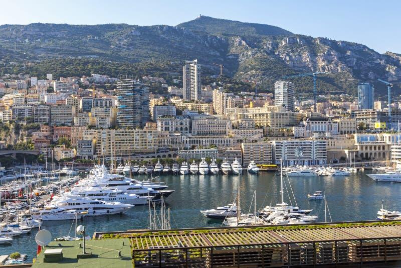 City of Monte Carlo skyline view, Monaco, French Riviera stock photography