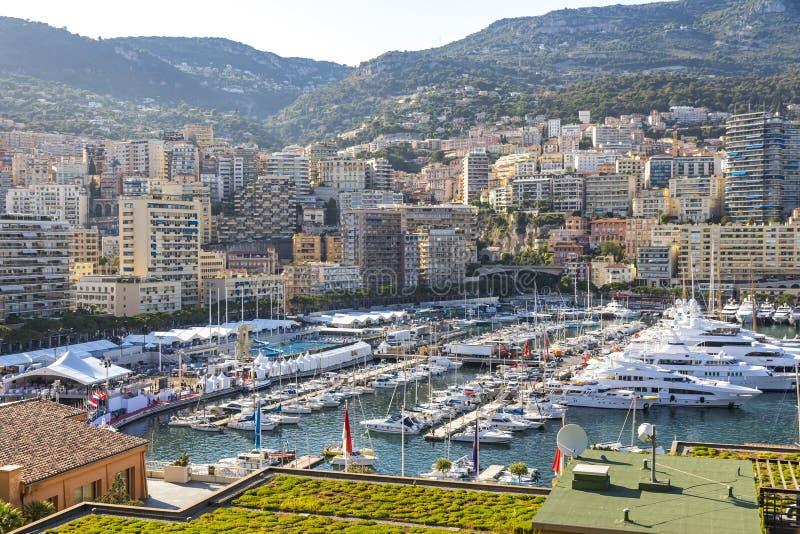 City of Monte Carlo skyline view, Monaco, French Riviera royalty free stock photo